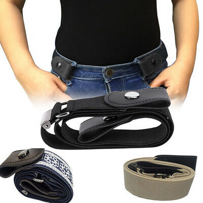Buckle-free Elastic Women Waist Belt Invisible Belt for Jeans No Bulge Xmas Gift