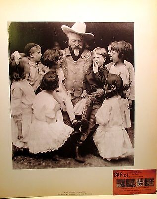 Buffalo Bill & Kids Photo Print 1910 Museum Image Historical Wild West Show