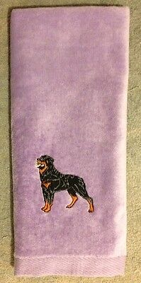 Rottweiler, Hand Towel, Embroidered, Custom, Personalized, Dog, Rottie