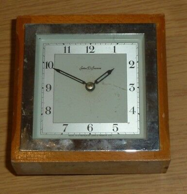 Vintage John Francis small mantel clock for spares