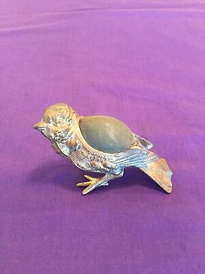Antique Victorian Figural Bird Pin Cushion