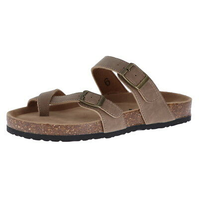 30274965ee4d Eastland Pearl Women s Strappy Thong Sandals Brown Size 8M.