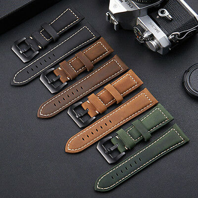 Unisex Men Women Genuine Leather Twist Watch Suede Nubuck Band Strap CO