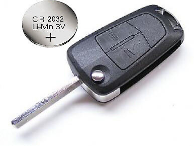 for Vauxhall Opel Corsa D Astra H Vectra Zafira 2 Button Remote Key Case Battery