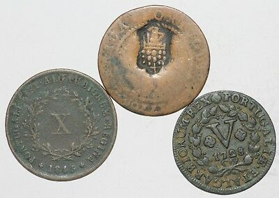 Portugal Monarchy Lot 7 of 3 Coins