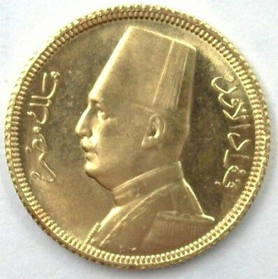 Egypt 1930 Gold 20 Piastres Gem++ Uncirculated