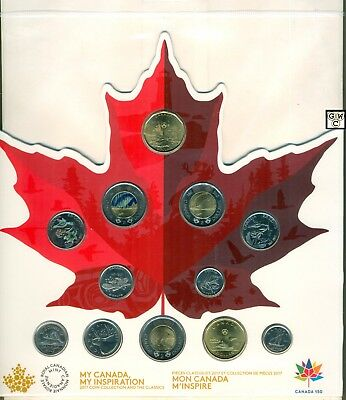 2017 Canada 150 Circulation 12-Coin Collection (18034)