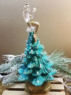 *RARE*Vintage inspired ceramic  mermaid Christmas tree- mermaid figurine