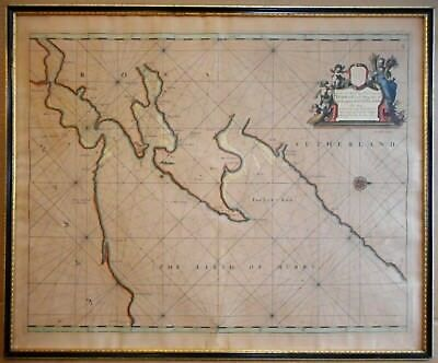 The Murry Firth (Moray Firth). Captain Greenvile Collins 18th century Sea Chart