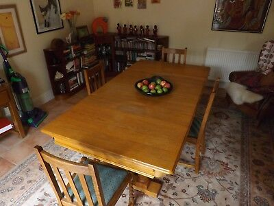 1930's Solid Oak Riley Dining / Snooker Table.