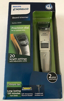 Philips Norelco Beard Trimmer Series 3500 QT4018/49, 20 Length Settings ~ Sealed