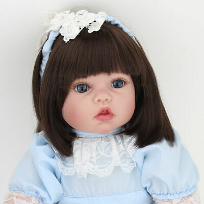 "19"" Newborn Doll Real Lifelike Silicone Reborn Baby Dolls Toddler Girl Xmas Gift"