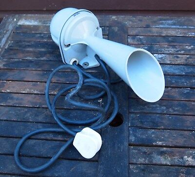 Vintage Mains Powered Industrial Horn Hooter 220/240v Plastic TYP HPw Used