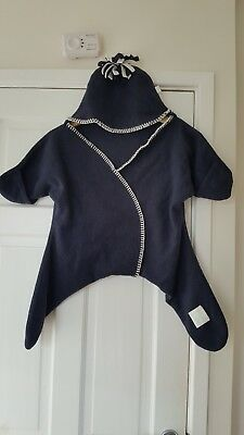 Tuppence And Crumble Star Wrap Navy Medium 4-10 months
