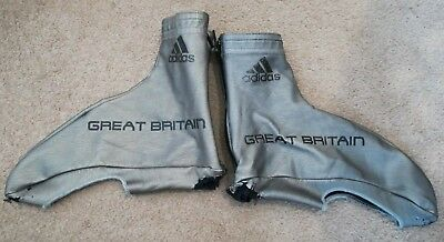 Great Britain Cycling Team Adidas Overshoes Aero Time Trial Road Silver