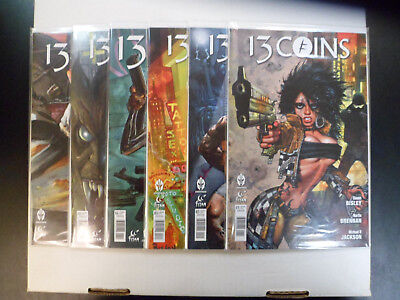 """2014 13 Coins COMPLETE SET of 6 """"Comic Books"""" (1-6) NM!! 1ST PRINTS!! BISLEY!!"""