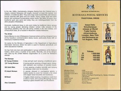 Botswana 1990. Traditional Dress. Publicity Fold-out leaflet. No stamps.