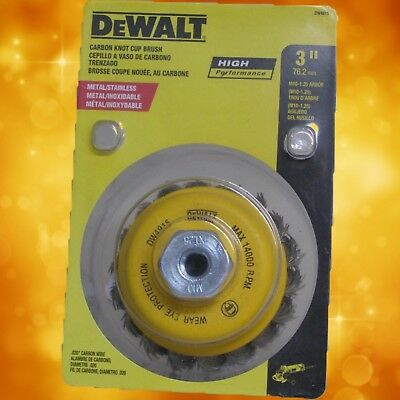 """DeWalt DW4915 3""""Wire Knotted Cup Brush - 10MM x 1.25 Arbor"""