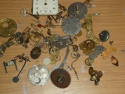 Vintage clock movement parts for steampunk or decoration