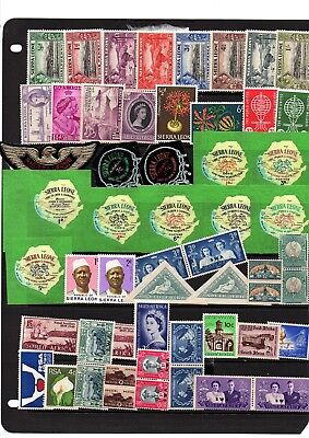 British Colonies,sierra Leone,south Africa,st.vincent, Mnh & Mh Stamps,2 Pages