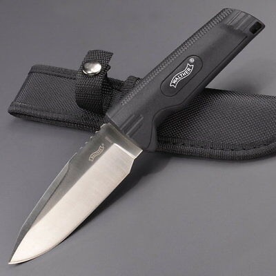 """Walther 9.25"""" Fixed Blade All Purpose Knife w/ Sheath - NEW  Super Fast Shipping"""