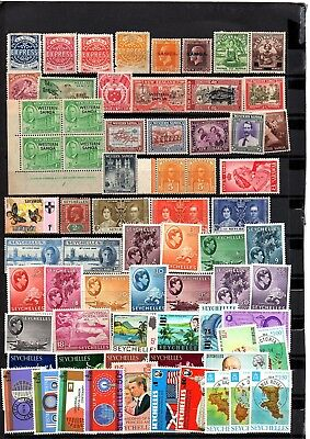 British Colonies,samoa,seychelles,ross,st Helena, Mnh & Mh Stamps,2 Pages