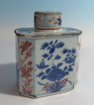 Antique Chinese Imari Porcelain Octagonal Tea Caddy