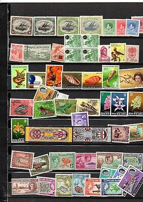 British Colonies,papua,pitcairn,new Zealand,north Borneo, Mnh & Mh Stamps,2 Pag