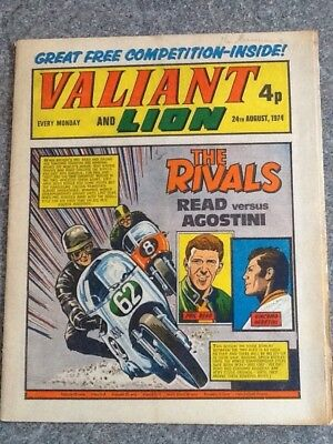 Valiant & Lion comic dated 24Aug74