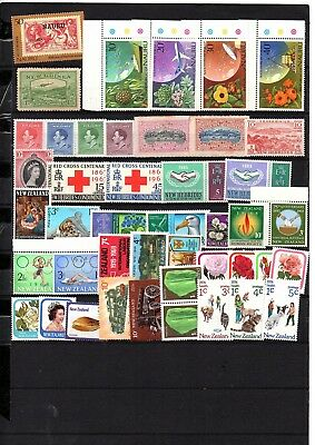 British Colonies,nauru,new Zealand,malta,mauritius, Mnh & Mh Stamps,2 Pages