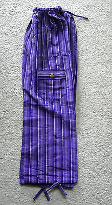 Made In Peru Cotton & Rayon Casual Colorful Baggie Pants Children Size #101060