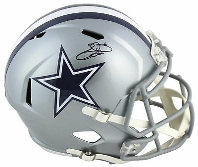 9b9744fb4 Cowboys Emmitt Smith Authentic Signed Full Size Speed Rep Helmet BAS  Witnessed