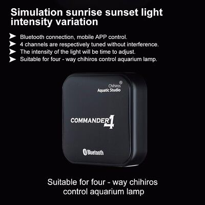 Chihiros Commander 4 Bluetooth LED Light Dimmer Controller Aquarium Fish Tank