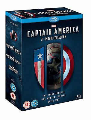 Marvel's Captain America 3-Movie Collection [Blu-ray Box Set Region Free] NEW