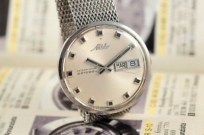 Vintage Swiss Mido Ocean Star Datoday 5069 Automatic 36Mm Stainless Steel Case