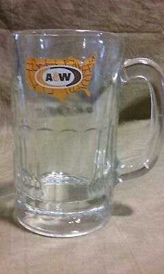 "Vintage advertising  A & W Root Beer Glass Mug 5 7/8"" tall 1972 Logo Retro Stein"