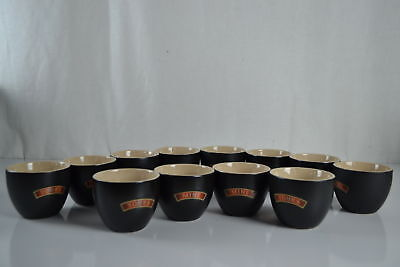 """Lot of 6 New Baileys """"Yours & Mine"""" Dessert / Coffee Bowls"""