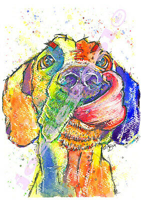 GREAT DANE Dog PRINT from an Original Watercolour Painting Picture by Josie P