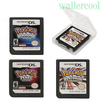 3 X New Pokemon Platinum Diamond Pearl Game Cards For 3DS NDSI NDS NDSL USA Ver