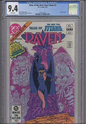 Tales of the New Teen Titans #2  CGC 9.4 1982 Origin of Raven DC : New  Frame