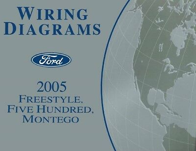 2005 ford freestyle, five hundred, mercury montego wiring diagrams  schematics