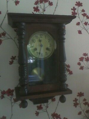 Junghans Antique chiming Pendulum Clock  working order