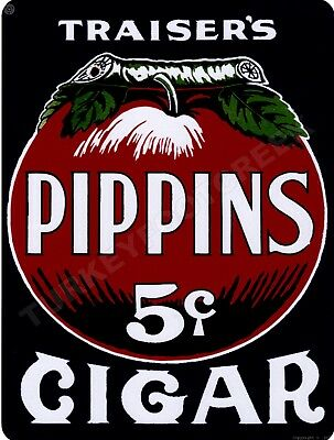 """PIPPINS CIGARS  9"""" x 12"""" Sign"""