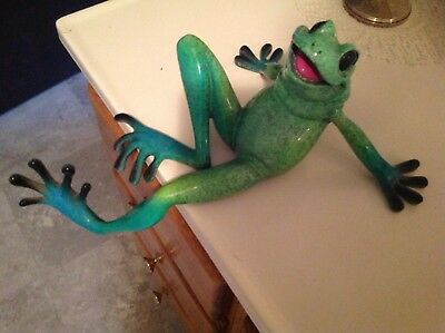Vintage Kitty's Critters Green Frog, Whimsical,Shelf-Sitting
