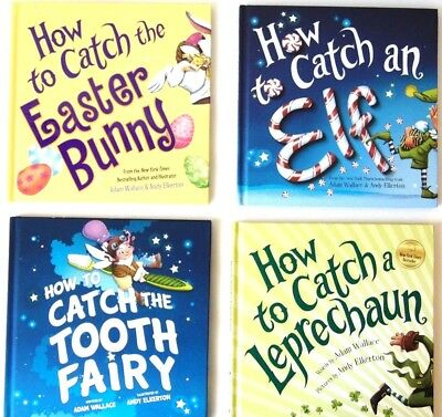 How to Catch a Leprechaun - Tooth Fairy - Elf - Easter Bunny Set Lot (4 Pack)
