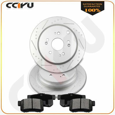 Carbon Ceramic Pads For  Acura RDX Rear Drill Slot Brake Rotors Front