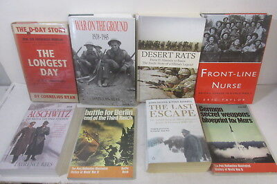 World War 2 themed book collection x 23 titles, job lot, history, military etc
