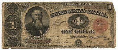 1891 $1 Treasury Note Large Currency - One Dollar - AX573