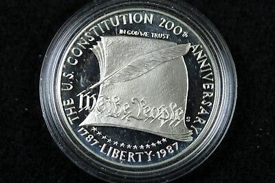1787- 1987 The Us Constitution 200Th Anniversary Dollar Round!!  #h15273