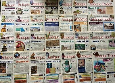 """Large Lot - 97 ISSUES of Magazine """"Antique Trader,"""" 2002-2008"""